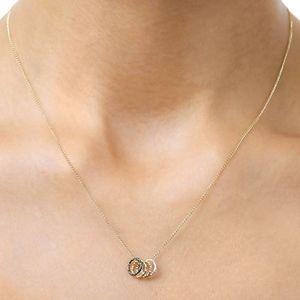 """Dogeared Tiny Sparkle Karma Necklace 16"""""""